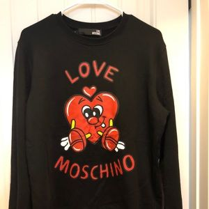 Love moschino men's pullover hoodie (or unisex)